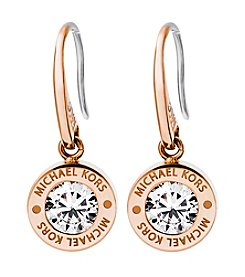 Michael Kors Rose Goldtone Clear Earrings