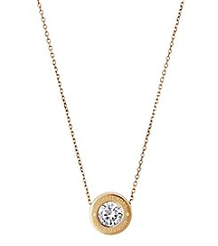 Michael Kors Goldtone Clear Necklace
