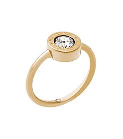 Michael Kors Goldtone Clear Ring