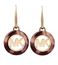 Michael Kors Goldtone Tortoise Earrings