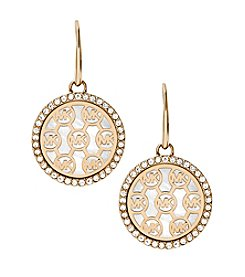Michael Kors Goldtone Mother Of Pearl Clear Earrings