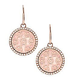 Michael Kors Rose Goldtone Mother Of Pearl Clear Earrings
