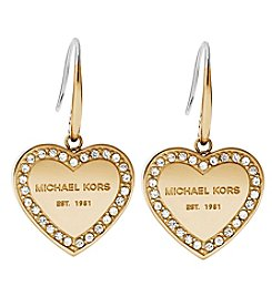 Michael Kors® Goldtone Clear Earrings