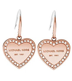 Michael Kors® Rose Goldtone Clear Earrings