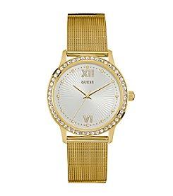 Guess Women's Goldtone Lexi Mesh Casual Dress Watch