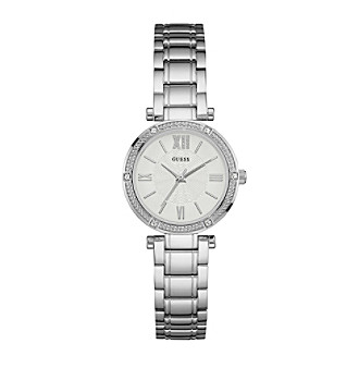 Guess Women's Silvertone Bracelet Watch