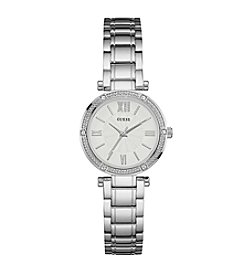 Guess Women's Silvertone Park Avenue Modern Classic Watch
