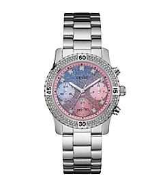 Guess Women's Silvertone Confetti Sport Watch
