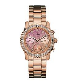 Guess Women's Rose Goldtone Confetti Feminine Sport Watch