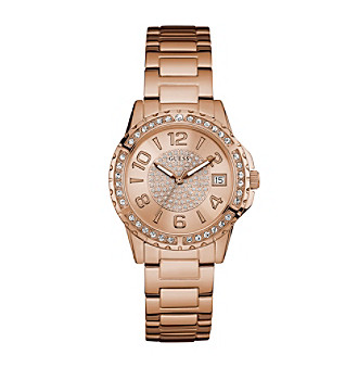 Guess Women's Rose Goldtone Sport Watch