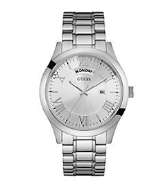 Guess Men's Silvertone Classic Dress Watch