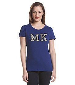 MICHAEL Michael Kors Sequin Patch Top