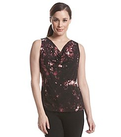 Calvin Klein Draped Neck Crackle Print Cami