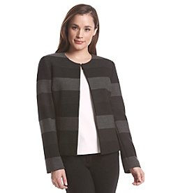 Tahari ASL® Wide Stripe Open Jacket