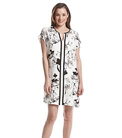 Black Rainn™ Printed Shirt Dress