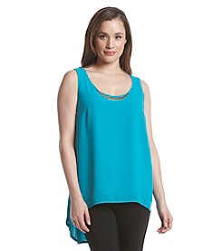 August Silk® Bar Neck Sleeveless Cami