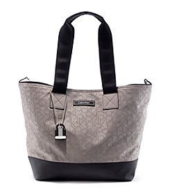 Calvin Klein Rubberized Monogram Tote Bag