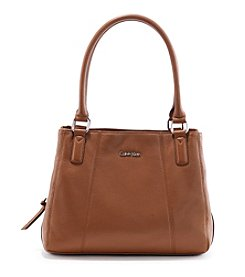 Calvin Klein Pebble Leather Satchel Bag