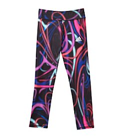 adidas® Girls' 2T-6X Swirl Printed Radiant Tights