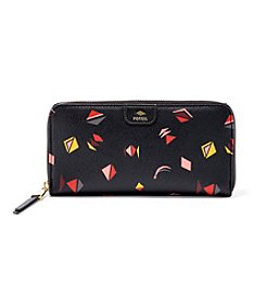 Fossil® Printed Zip Clutch