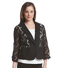 Madison Leigh® Sheer Floral Lace Blazer