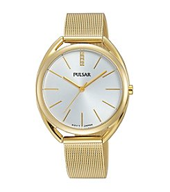 Pulsar® Women's Easy Style Collection Goldtone with Champagne Dial