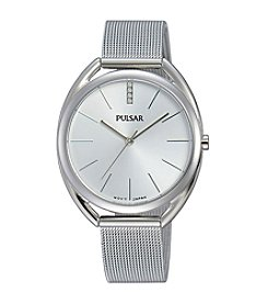 Pulsar® Women's Easy Style Collection Silvertone with Silver Dial
