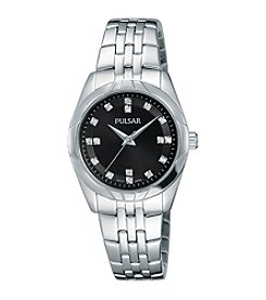 Pulsar® Women's Night Out Collection Silvertone with Swarovski® Crystal Accents