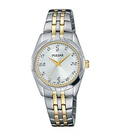 Pulsar® Women's Night Out Collection Two-Tone with Swarovski® Crystal Accents