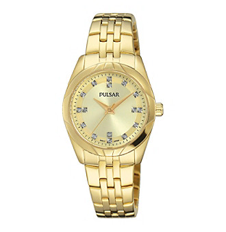 Pulsar® Women's Night Out Collection Goldtone with Swarovski® Crystal Accents
