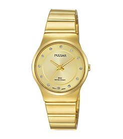 Pulsar® Women's Easy Style Collection Goldtone with Swarovski® Crystal Accents