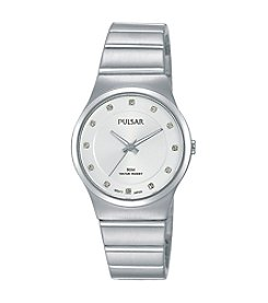 Pulsar® Women's Easy Style Collection Silvertone with Swarovski® Crystal Accents