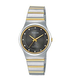 Pulsar® Women's Easy Style Collection Two-Tone with Swarovski® Crystal Accents