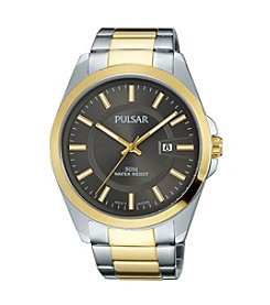 Pulsar® Men's Business Collection Two-Tone with Grey Dial