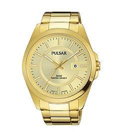 Pulsar® Men's Business Collection Goldtone with Champagne Dial