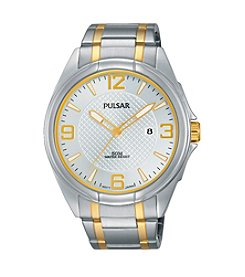 Pulsar® Men's Easy Style Collection Two-Tone with White Dial