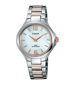 Pulsar® Women's Night Out Collection Two-Tone Rose Goldtone