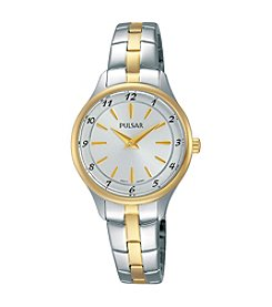 Pulsar® Women's Business Collection Two-Tone with Silvertone Dial