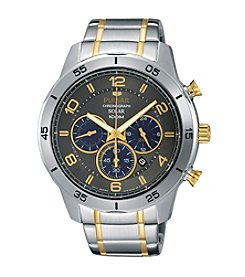 Pulsar® Men's On the Go Solar Two-Tone Chronograph