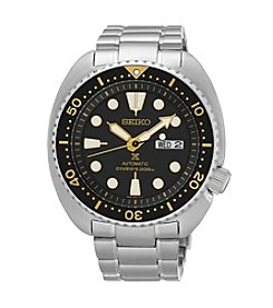 Seiko® Men's Silvertone Automatic Diver Watch