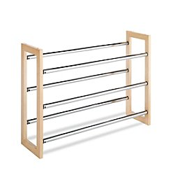 Whitmor® Wood Chrome Shoe Rack