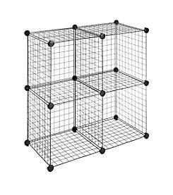 Whitmor® Set of 4 Black Wire Storage Cubes