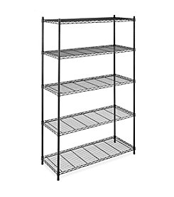 Whitmor® Wide 5-Tier Black Supreme Shelving