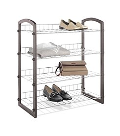 Whitmor® Faux Leather Closet Shelves 4