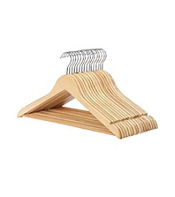 Whitmor Set of 16 Wood Suit Hangers