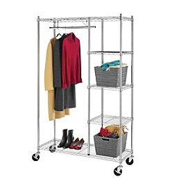 Whitmor Rolling Garment Shelves Rack
