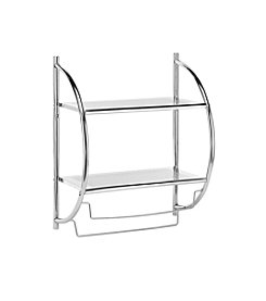 Whitmor Chrome Shelf Towel Rack