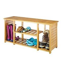 Whitmor Bamboo Shoe Bench
