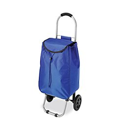 Whitmor Blue Rolling Bag Cart