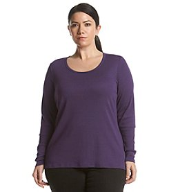 Ruff Hewn GREY Plus Size Scoop Neck Tee